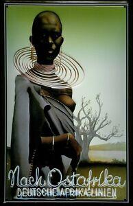 Nach Ostafrika Deutsche Afrika Linien Blechschild 3D geprägt Tin Sign 20 x 30 cm