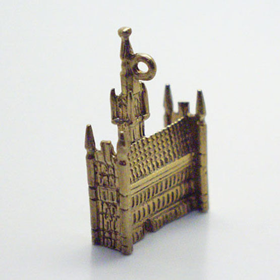14k gold vintage BRUSSELS TOWN HALL charm