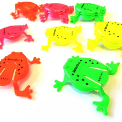 2 x JUMPING FROG TOYS BOYS GIRLS FAVOR LOOT PINATA BIRTHDAY PARTY BAG FILLERS