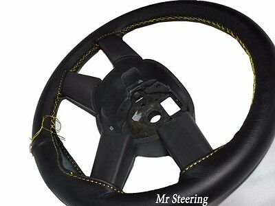 FOR CHEVROLET ASTRO 95-05 BLACK PERFORATED LEATHER STEERING WHEEL COVER GREY ST