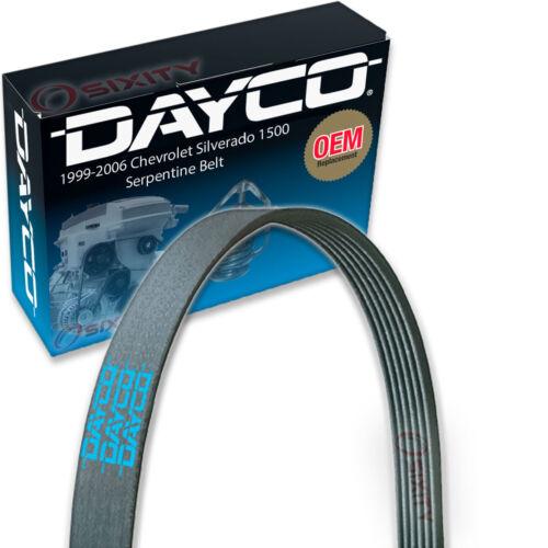 Dayco Serpentine Belt for 1999-2006 Chevrolet Silverado 1500 4.8L 5.3L 6.0L ml