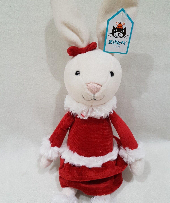 New Jellycat bunny rabbit Christmas Bitsy Bunny  Soft Toy new tags medium 17