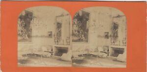 Francia Palais Da Compiegne Francia Foto Stereo Vintage Albumina c1868