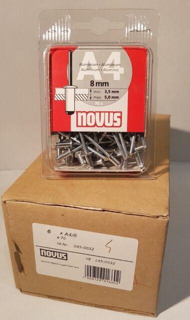 Blindnieten  NOVUS  A4   8mm    420 Stück  ( 6x70 )    045-0032