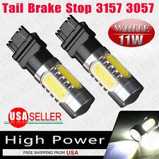 2PCS White 3157 11W High Power LED COB Backup/Reverse Light Bulbs 3057 3155 4144