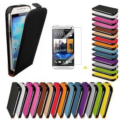 Handy Tasche für HTC One M7 Flip Cover Case Schutz Hülle Etui Schale Klapp Hülle