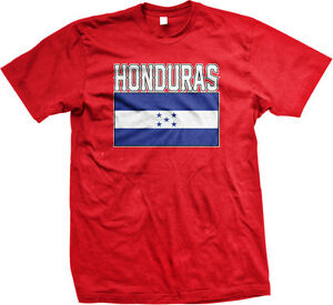 Honduras Flag Colors Font Honduran Soccer Heritage Born From HND Juniors T-Shirt