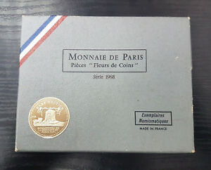 Monnaie-de-Paris-Serie-FDC-Fleur-de-coin-1968-8-pieces-Avec-boite
