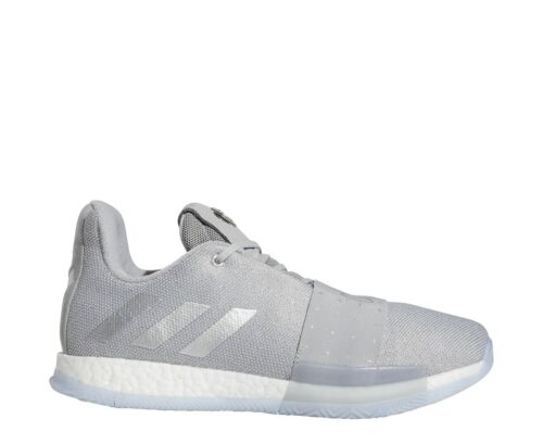 New Adidas Men/'s Harden Vol 3 Basketball Shoes Grey//Metallic Silver F36443