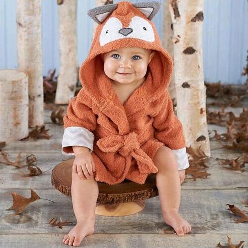Baby Bath Towel Coral Fleece Blanket Infant Hooded Soft Bathrobe Cute Animal New