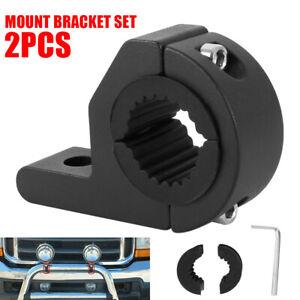 2X-1inch-MOUNT-BRACKET-TUBE-CLAMPS-FOR-LED-LIGHT-BAR-OFF-ROAD-BULL-BAR-HID-ATV