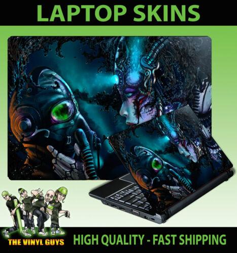 Laptop Adesivo SKIN Cyber Punk MASCHERA ANTIGAS Scuro Adesivo in Vinile varie opzioni di dimensione