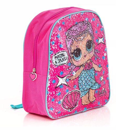LOL Surprise Children/'s Sequin Backpack Reversible Mermaid /& Superhero Design