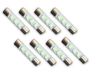 8-COOL-BLUE-8V-LED-Lamp-Fuse-Type-Bulbs-for-Pioneer-SX-626-SX-636-SX-727-8CB