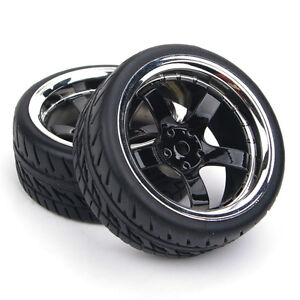 RC-4Pcs-Run-Flat-Tires-amp-Wheel-12mm-Hex-For-HSP-HPI-1-10-On-Road-Model-Car-Tyres