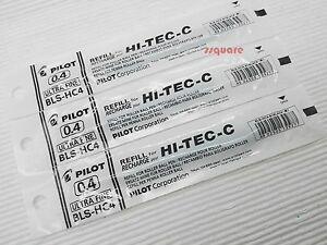 12 Refills for Pilot Hi-Tec-C 0.4mm Ultra Fine Rollerball Gel Ink Pen, Black