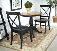 Whitewood Set Of 3 Pcs - Round Table W/2 Rta Chairs K57-30rt-46-613 Table