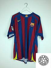 BARCELONA 05/06 Home Football Shirt (L) Soccer Jersey Nike
