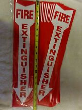 Lot Of 20 Self Adhesive 4 X 18 Vinyl Fire Extinguisher Arrow Signsnew