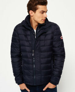 New-Mens-Superdry-Fuji-Triple-Zip-Through-Jacket-Navy