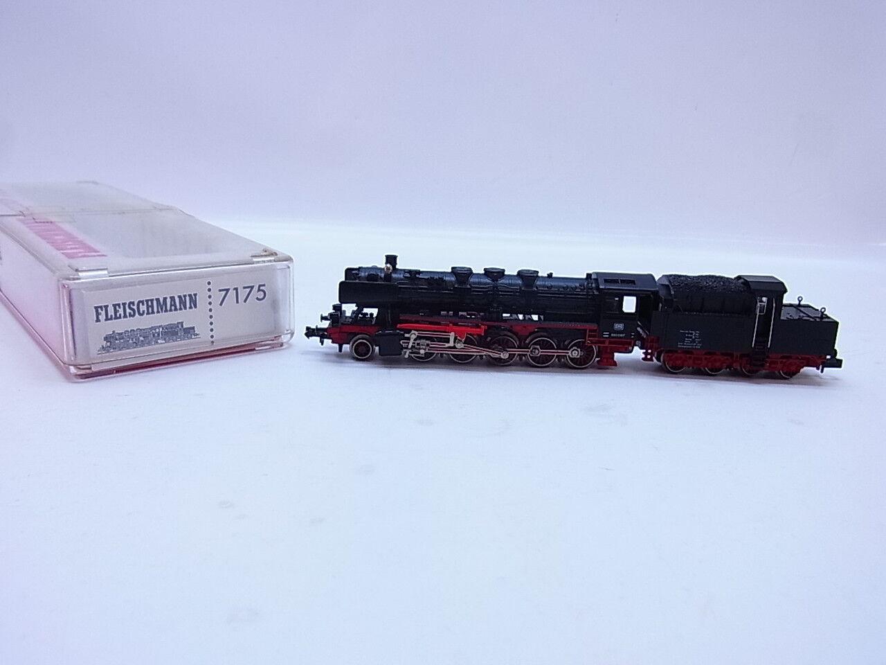 LOTE 52929   Muy bonito Fleischmann 7175 vapor locomotora BR 050 DB pista N en caja orig.