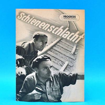 """Hell 486 Progress-filmillustrierte 9/1956 """"schienenschlacht"""" Ddr Barnault"""