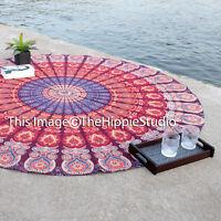 Indian Round Mandala Yoga Mat Wall Hanging Boho Beach Throw Tapestry Towel Decor