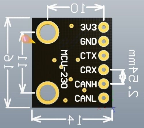 5pcs SN65HVD230 CAN Bus Transceiver Communication Module for Arduino