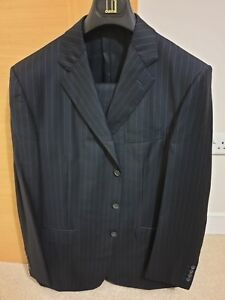Luxury Dunhill Blue New Navy Pinstripe Suit With Brand Z1qZw4x6