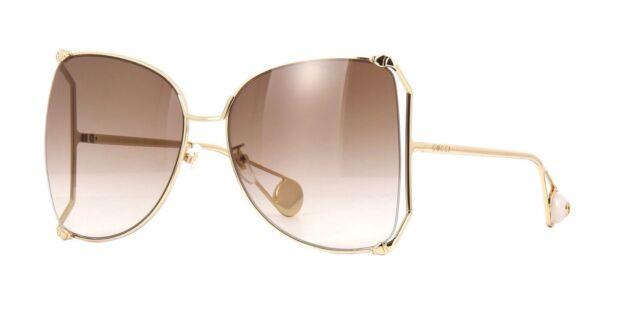 e3aceadfc4a Authentic Gucci GG 0252 S 003 Gold Sunglasses for sale online