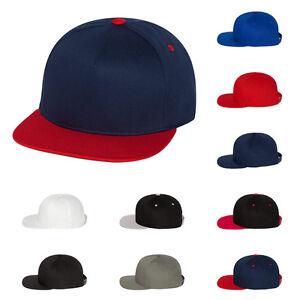 dcc32acbf4f Yupoong Mens Five-Panel High-Profile Flat Bill Cap Baseball Hat One ...