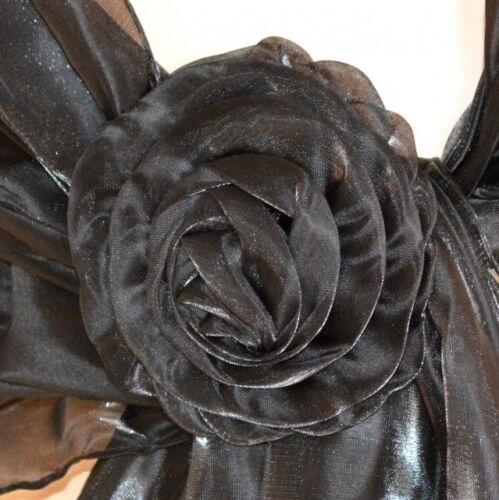 STOLA NERA donna maxi foulard scialle coprispalle elegante cerimonia da sera 750