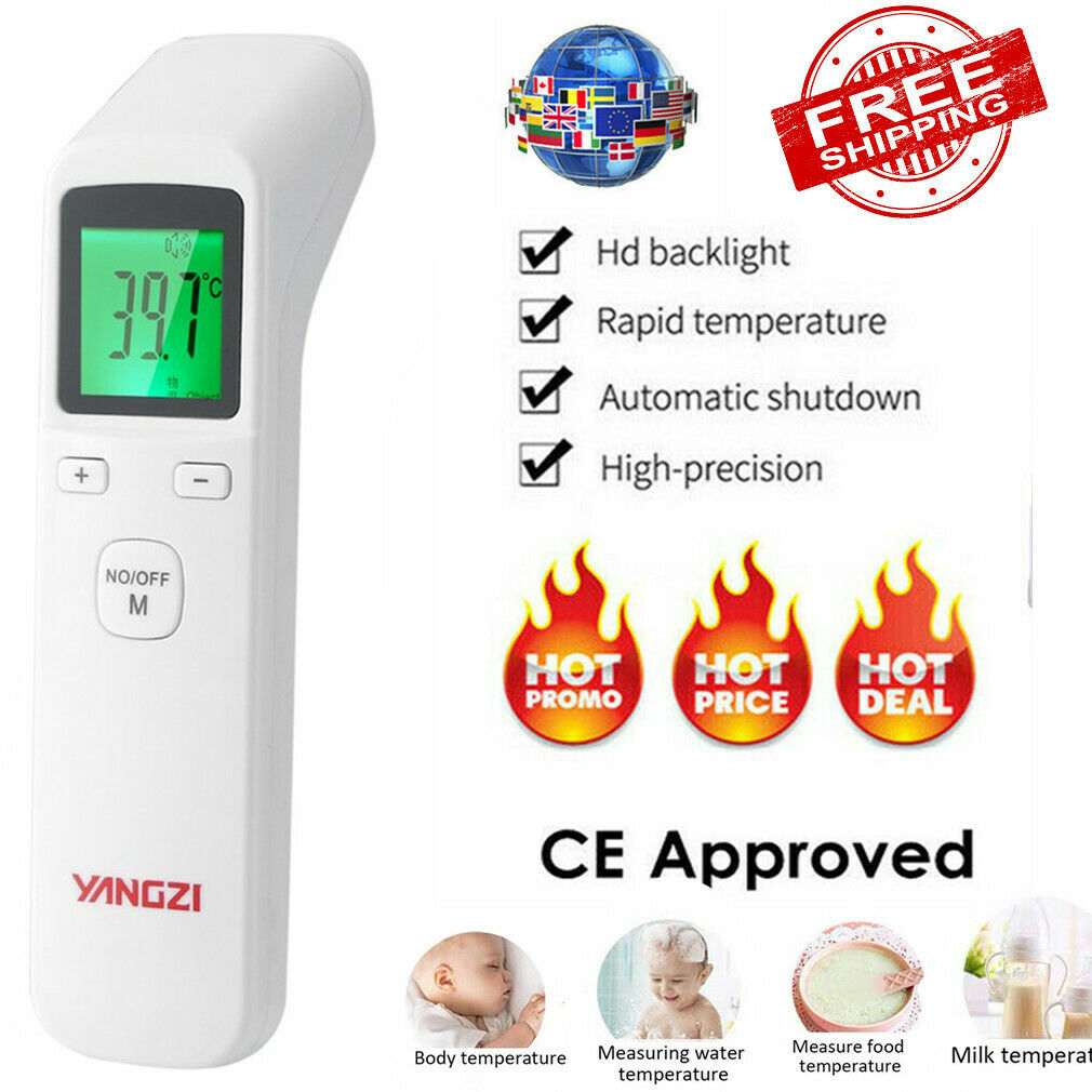 Digital IR Infrarot Thermometer Baby Erwachsene Ohr Stirn LCD Fieberthermometer#