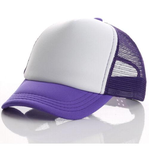 Kids Boys Girls Baseball Hat Sports Sun Mesh Hat Adjustable Snapback Cap Trucker