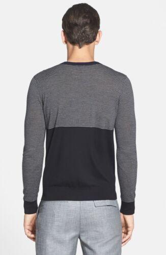 Suéter cuello raya Theory con Nwt lana de 325 Merino redondo de ligero FBWn50