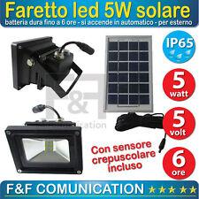Lampada Faro Faretto Led Con Pannello Fotovoltaico Faretto Esterno Celle Solari