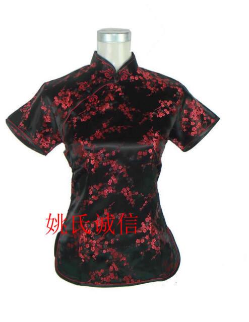 Charming Chinese Women/'s silk Tops dress//T-shirt Cheongsam Sz:6 8 10 12 14 16