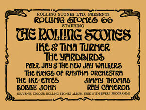 The Rolling Stones ABC Ardwick Concert Handbill reprint (1966)
