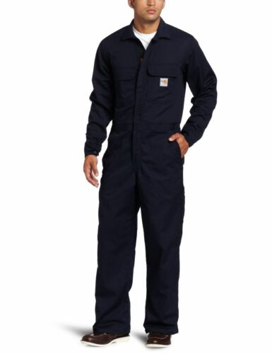 Carhartt Men's Big & Tall Flame Resistant Traditional Twill Coverall Dark Navy