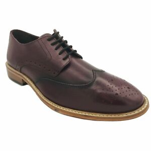 Maybury Mens Gents Handmade England Lace Up Black Leather Toe Gap Formal Shoes
