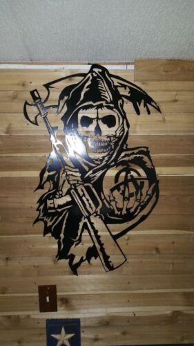 "24/"" tall Grim Reaper Sign  Hand Made in Waco Texas /""CNC Plasma/"" wall art decor"