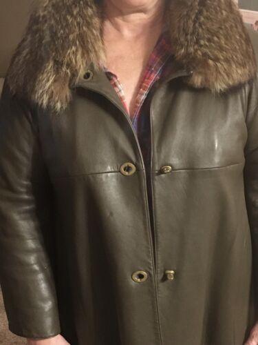 Women's Vintage Leather Coat By Bonnie Cashin