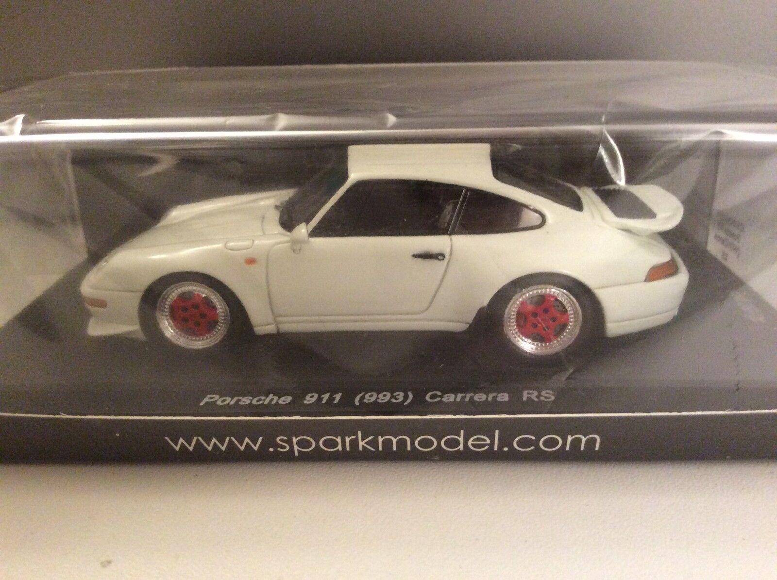 SPARK 1/43 PORSCHE 911 993 Carrera RS BIANCO cartima Giappone Exclusive 50 Pezzi OVP