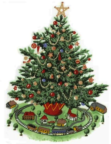 Christmas Tree Select-A-Size Waterslide Ceramic Decals Xx