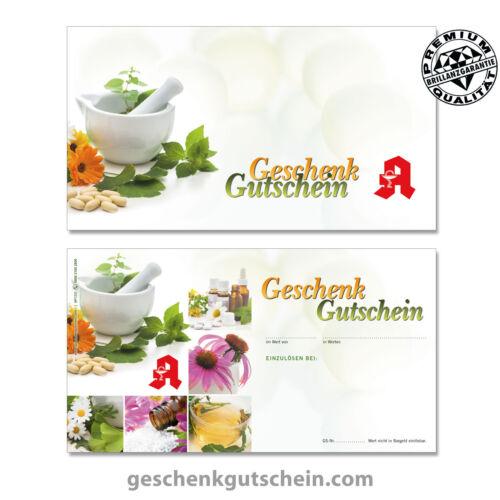 "Gift Cards /""standard/"" for German Pharmacy ap1233"