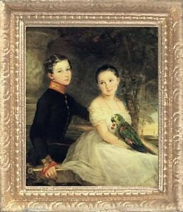 MADE IN USA Miniature Art FAST DELIVERY VICTORIAN SISTERS Dollhouse Picture