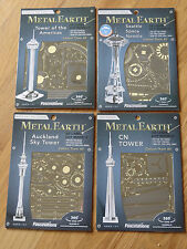 Towers Set of 4 Metal Earth 3d Laser cut models CN Auckland Sky Seattle Americas