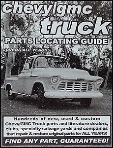 Image Is Loading Find Chevy Pickup Truck PARTS With This Book