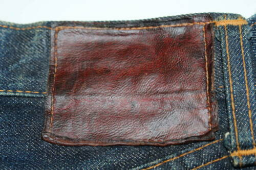 Levis 501XX leather patch original mustache Hachin