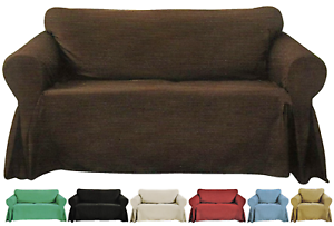 Decorative-Sofa-Slipcover-Textured-Woven-Design-Couch-Lounge-Size-amp-Color